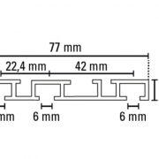 Alu-fügönysín-7mm-háromsoros-méretei