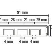 Függönysín-GE3-mérete